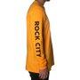 Camiseta Rock City Criciúma Manga Longa Amarelo