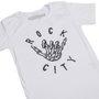 Camiseta Rock City Hang Loose Infantil Branco