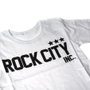 Camiseta Rock City Inc. 3 Estrelas Infantil Branco