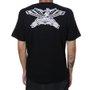 Camiseta Rock City x Pox Tattoo Águia Preto