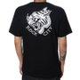 Camiseta Rock City x Pox Tattoo Tigre Preto