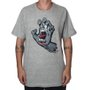 Camiseta Santa Cruz Screaming Hand Mescla/Chumbo