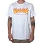 Camiseta Thrasher Magazine Flame Logo Branco