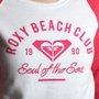 Moletom Roxy Careca Beach Club Branco/Rosa