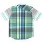 Camisa Volcom Lonsway Infantil Azul/Verde