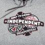 Moletom Independent Infantil Sticker Back Cinza Claro Mescla