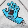 Moletom Santa Cruz Infantil Screaming Hand Cinza Mescla