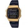 Relógio Casio Vintade A168WEGB-1BDF Preto/Dourado